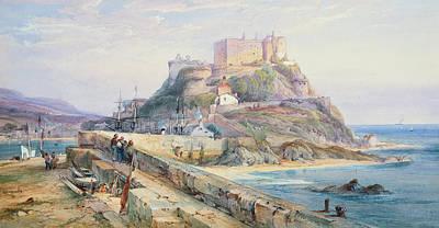 Mont Orgueil Castle Print by Richard Principal Leitch