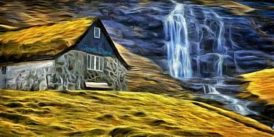 Gravel Digital Art - Montains Home - Da by Leonardo Digenio