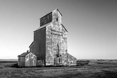 Granary Photograph - Montana Elevator Company by Todd Klassy