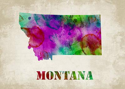 Montana Print by Mihaela Pater