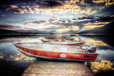 Lake Mcdonald Photograph - Montana Outboard by Spencer McDonald