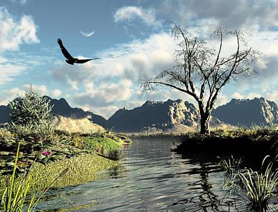Red Tail Hawk Digital Art - Montana Sky by Steven Palmer