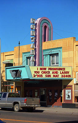 Miles City Montana - Theater Print by Frank Romeo