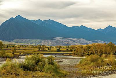 Gallatin River Photograph - Montana Yellowstone River View by Jon Burch Photography