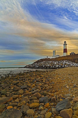 Montauk Point Lighthouse Print by Susan Candelario