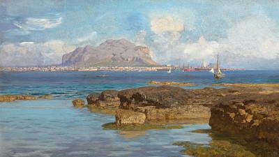 Sicily Painting - Monte Pellegrino  Palermo Sicily by Francesco Lojacano