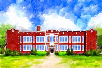 Schoolhouse Mixed Media - Montezuma School History by Mark Tisdale