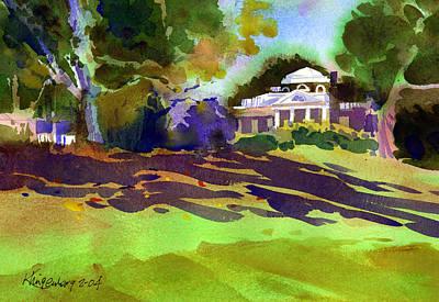 Monticello In October Print by Lee Klingenberg