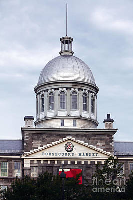 Montreal Landmarks Photograph - Montreal Bonsecours Market by John Rizzuto