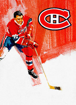 Montreal Forum Painting - Montreal Canadiens 1968-69 Program by Big 88 Artworks