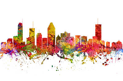 Montreal Cityscapes Drawing - Montreal Cityscape 08 by Aged Pixel