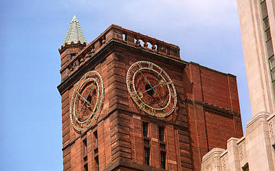 Old Montreal Photograph - Montreal Clock Tower by Frank Romeo