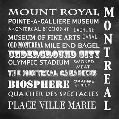 Orange Julep Digital Art - Montreal Famous Landmarks by Patricia Lintner