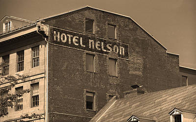 Old Montreal Photograph - Montreal - Hotel Nelson Sepia by Frank Romeo