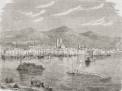 Montreal Drawing - Montreal In The 1860s, After An by Vintage Design Pics