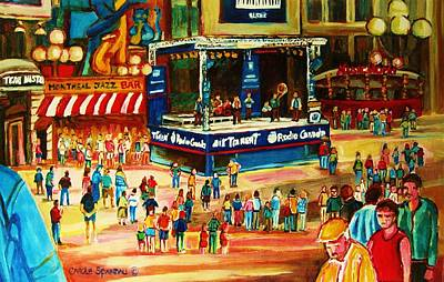 America First Party Painting - Montreal Jazz Festival by Carole Spandau