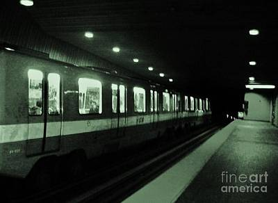 Montreal Metro Ride Original by Reb Frost