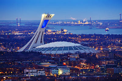 Montreal Cityscapes Photograph - Montreal Olympic Stadium by Mircea Costina Photography