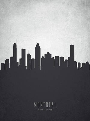 Montreal Cityscapes Painting - Montreal Quebec Cityscape 19 by Aged Pixel
