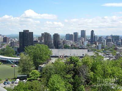 Montreal Cityscapes Photograph - Montreal View From Mcgill Residences by Reb Frost