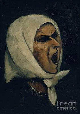 Shouting Painting - Montserrat Shouting by Juli Gonzalez
