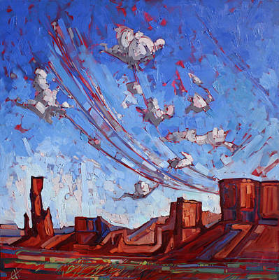 Canyon Painting - Monument Sky II by Erin Hanson