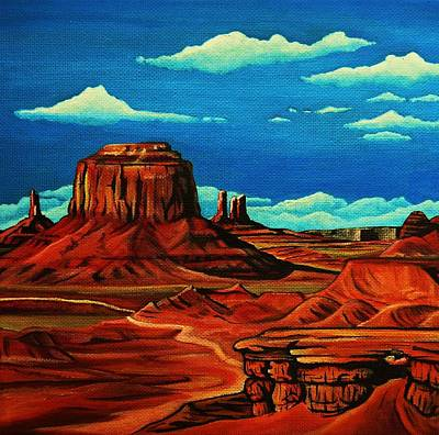 John Wayne Painting - Monument Valley by Lucy Deane