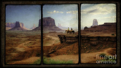 Tryptych Photograph - Monument Valley Triptyph by Priscilla Burgers