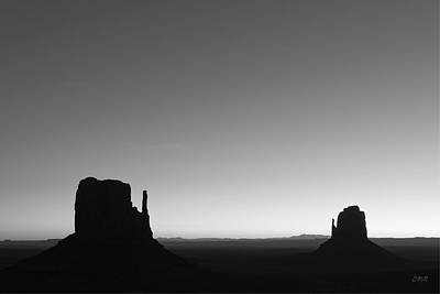 Black And White Photograph - Monument Valley Viii Bw by David Gordon