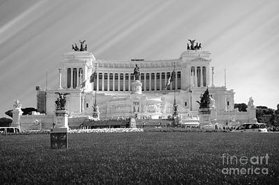 Capitoline Photograph - Monumental Architecture In Rome by Stefano Senise