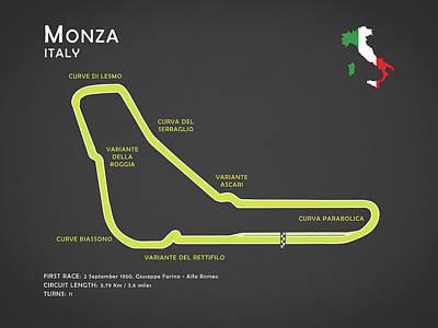 Ferrari Photograph - Monza by Mark Rogan