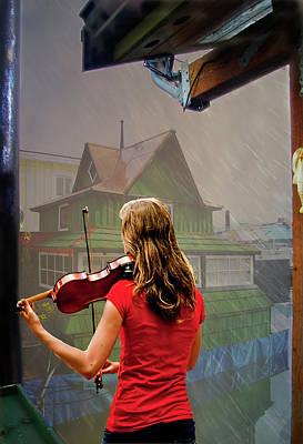 Violin Digital Art - Mood Music by Dale Stillman