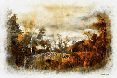 Digital Painting - Moody Autumn Day by Lilia D