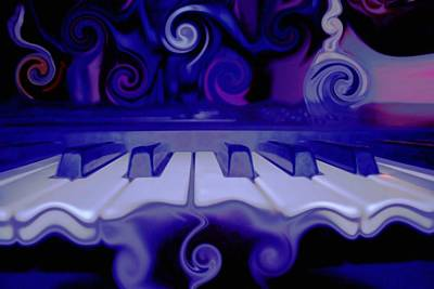 Energy Art Movement Digital Art - Moody Blues by Linda Sannuti