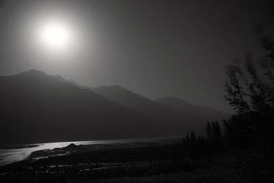 Moon Above Pyandzh Valley Print by Konstantin Dikovsky