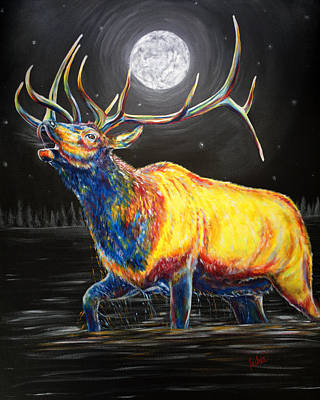 Painting - Moon Bugle by Teshia Art