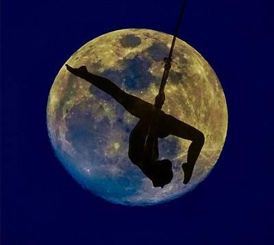 Mystical Women Mixed Media - Moon Dancer by Lilia D