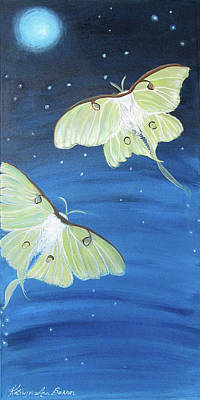 Night Angel Painting - Moon Dancers by Kathryn Bonner