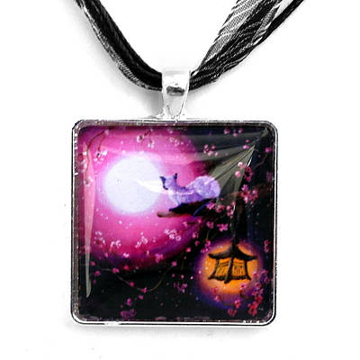 Moon Glow Lantern Glow Handmade Pendant Original by Laura Iverson