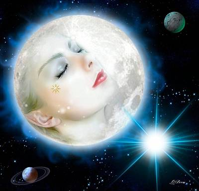 Moonlight Goddess Print by G Berry