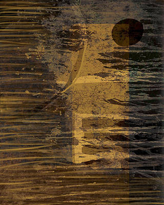 Drips Painting - Moon  by Lee Ann Asch