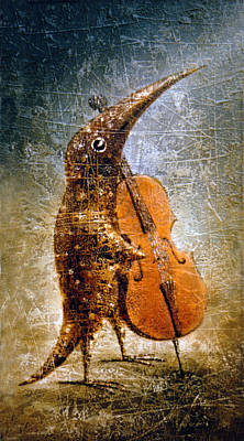 Birdman Painting - Moon Light Sonata by Lolita Bronzini