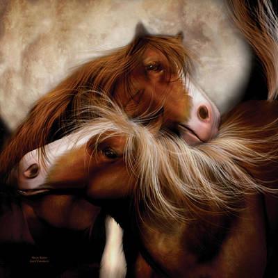 Horse Mixed Media - Moon Mates by Carol Cavalaris