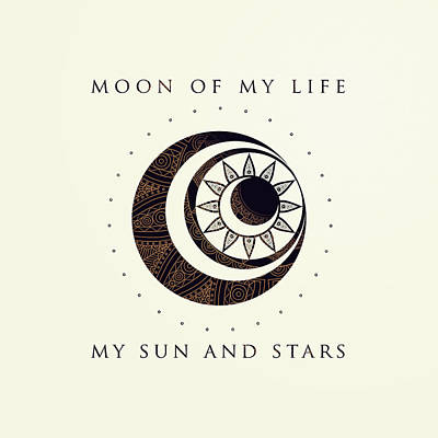 Fandom Drawing - Moon Of My Life... My Sun And Stars by Rose's Creation
