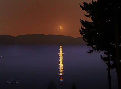 Moon Rise In Montana Original by Russ Harris