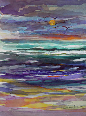 Painting - Moon Rising by Julianne Felton