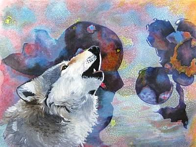 Representative Abstract Mixed Media - Moon Song by David Raderstorf