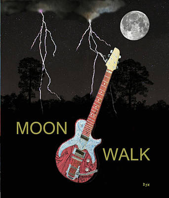 Electric Mixed Media - Moon Walk by Eric Kempson