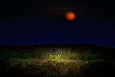 Moon Photograph - Moonglow II by Mark Andrew Thomas