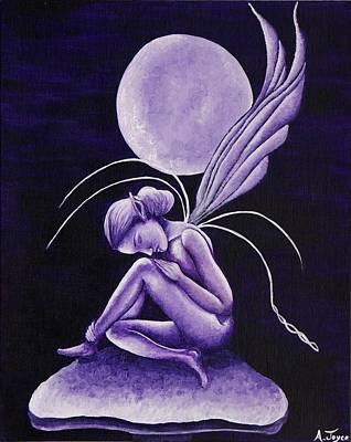 Night Angel Painting - Moonlight Angel by Aoife  Joyce